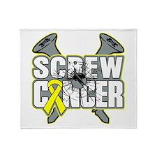 Screw Ewing Sarcoma Throw Blanket