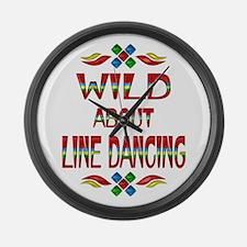 Line Dancing Large Wall Clock
