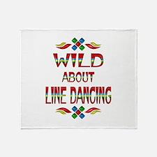 Line Dancing Throw Blanket