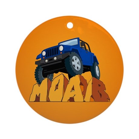 Moab Jeep Blue Ornament (Round)