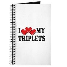 I Love Heart My Triplets Journal