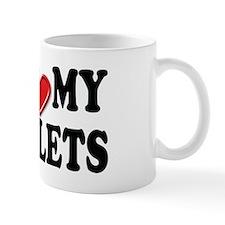 I Love Heart My Triplets Mug