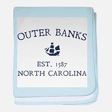 Outer Banks Established 1587 baby blanket