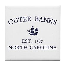 Outer Banks Established 1587 Tile Coaster