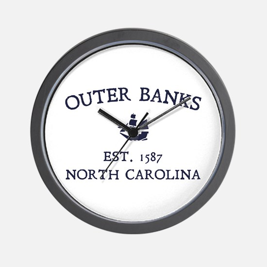 Outer Banks Established 1587 Wall Clock