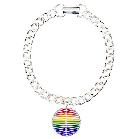 3D Stripes Charm Bracelet, One Charm