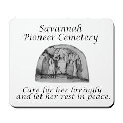 Savannah Pioneer Cemetery Mousepad