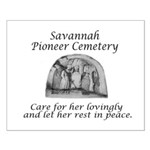 Savannah Pioneer Cemetery Small Poster