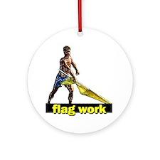 Flag work Ornament (Round)