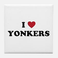I Love Yonkers New York Tile Coaster