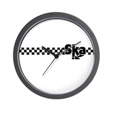 Ska Dancing Feet with Checkers Wall Clock