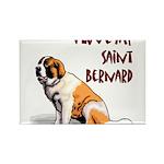 Saint Bernard Rectangle Magnet