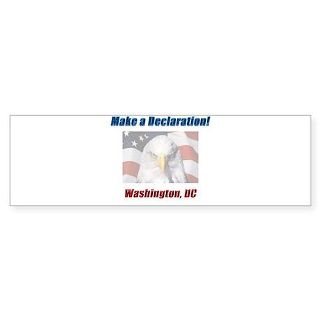 Make a Declaration: Washington DC Eagle Sticker (B