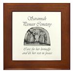 #3 Savannah Pioneer Cemetery Framed Tile