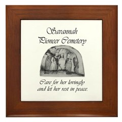 #3 Savannah Pioneer Cemetery Framed Tile
