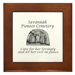 #4 Savannah Pioneer Cemetery Framed Tile