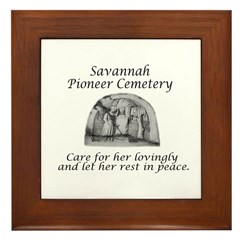 #4 Savannah Pioneer Cemetery Framed Tile