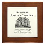 #5 Savannah Pioneer Cemetery Framed Tile