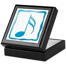 Blue Musical Note Keepsake Box