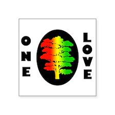 "Rasta Tree Square Sticker 3"" x 3"""
