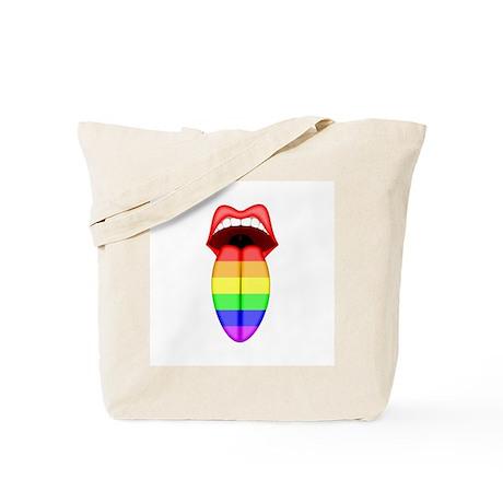 Rainbow Tongue Tote Bag