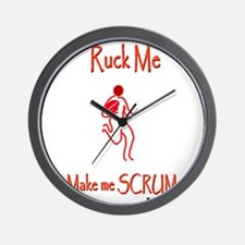 Rugby Ruck Me 6000.png Wall Clock