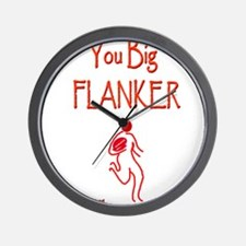 Rugby Big Flanker 6000.png Wall Clock