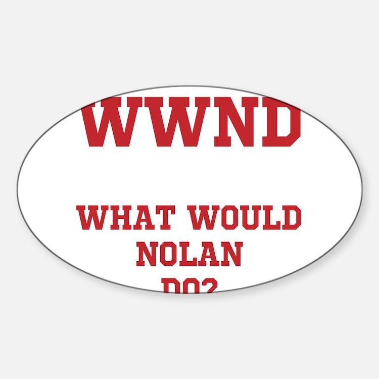 Cute Nolan Sticker (Oval)