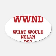Unique What would poe do Oval Car Magnet
