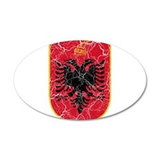 Albania Coat Of Arms 35x21 Oval Wall Decal