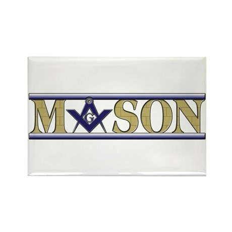 Masons Rectangle Magnet (100 pack)