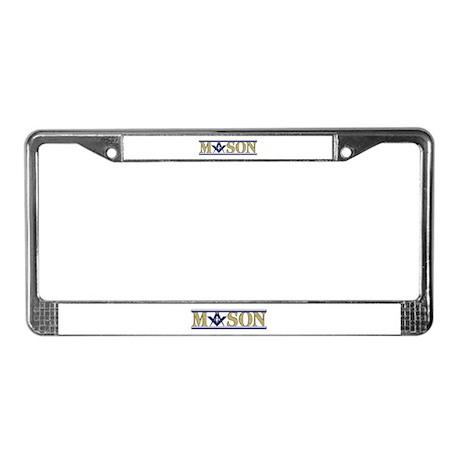 Masons License Plate Frame