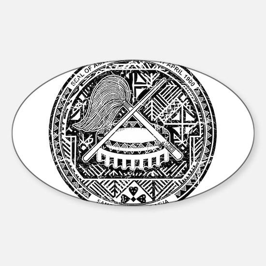 American Samoa Coat Of Arms Sticker (Oval)