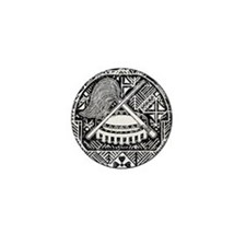 American Samoa Coat Of Arms Mini Button