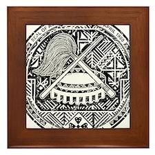 American Samoa Coat Of Arms Framed Tile