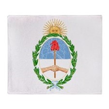 Argentina Coat Of Arms Throw Blanket