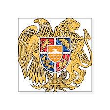 "Armenia Coat Of Arms Square Sticker 3"" x 3"""