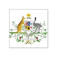 "Australia Coat Of Arms Square Sticker 3"" x 3"""