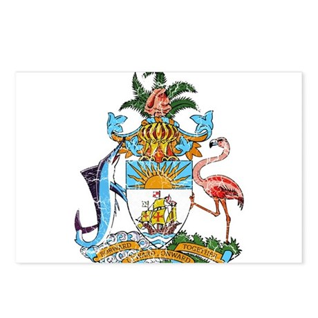 Bahamas Coat Of Arms Postcards (Package of 8)