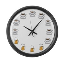 Coffee and Beer Large Wall Clock