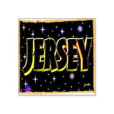 jersey holiday wear illustration art Square Sticke