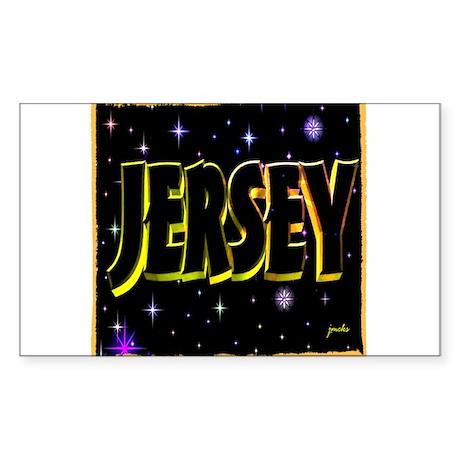 jersey holiday wear illustration art Sticker (Rect