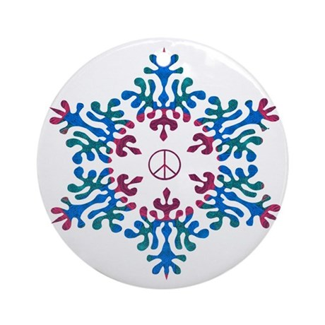 Snow Peace - Salvation Ornament (Round)
