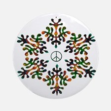 Snow Peace - Power Ornament (Round)