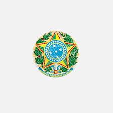 Brazil Coat Of Arms Mini Button