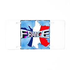 france holiday illustration art Aluminum License P