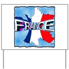 france holiday illustration art Yard Sign
