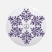 Snow Peace - Mauve Ornament (Round)