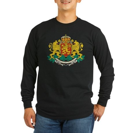 Bulgaria Coat Of Arms Long Sleeve Dark T-Shirt