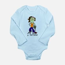 Zombie Girl: I believe Long Sleeve Infant Bodysuit